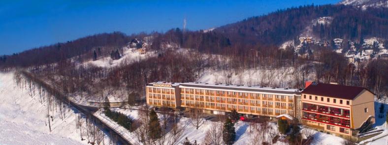 Panorama Szczyrk w zimie